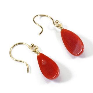 血赤珊瑚ピアス