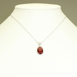 血赤珊瑚ペンダントK18WGホワイトゴールド無染色SANSUI宝石サンゴ天然本さんごコーラル
