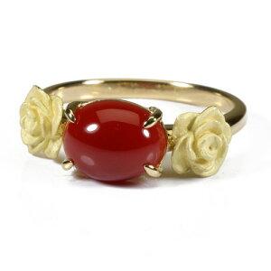 血赤珊瑚 指輪 リング K18 イエローゴールド 無染色 SANSUI レディース 女性 ファッション アクセサリー ジュエリー 還暦祝い 珊瑚婚式 3月誕生石 ラッピング無料 送料無料 高知 土佐