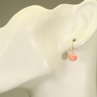 桃珊瑚のピアス