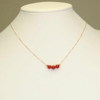 【SANSUI】K18YG、血赤珊瑚ネックレス