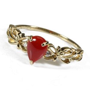 血赤珊瑚 指輪 リング ペアシェープ K18 イエローゴールド 無染色 SANSUI レディース 女性 ファッション アクセサリー ジュエリー 還暦祝い 珊瑚婚式 3月誕生石 ラッピング無料 送料無料 高知