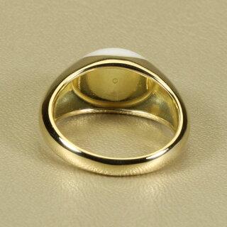 白珊瑚リング指輪K18無染色SANSUI宝石サンゴ天然本さんご