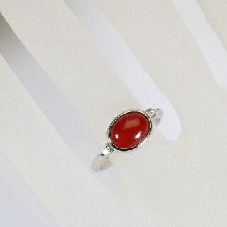 血赤珊瑚サンゴリングプラチナPt900高知産無染色SANSUI宝石サンゴ天然本さんご