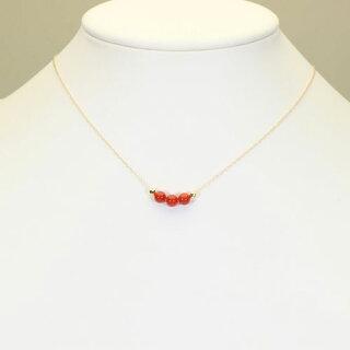 地中海紅珊瑚サルジ胡渡スルーネックレスペンダントK18イエローゴールド無染色SANSUI宝石サンゴ天然本さんごコーラル