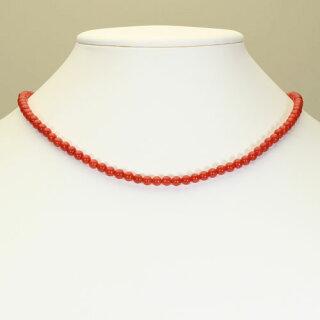 地中海紅珊瑚ネックレスK18ホワイトゴールド無染色SANSUI宝石サンゴ天然本さんごコーラル