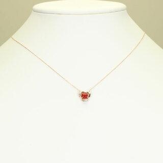 血赤珊瑚ネックレスペンダント一粒無染色K18PGピンクゴールドSANSUI宝石サンゴ天然本さんごコーラル3月誕生石還暦祝珊瑚婚