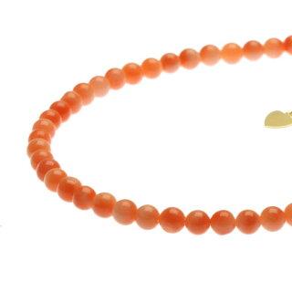 ピンクガーネ珊瑚ブレスレットK18イエローゴールド無染色SANSUI宝石サンゴ天然本さんごコーラル