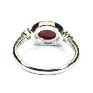 血赤珊瑚サンゴリング指輪プラチナPt900高知産無染色SANSUI宝石サンゴ天然本さんごコーラル