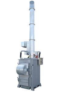 DAITO 廃プラ対応小型焼却炉 SPZ-400J ダイオキシン抑制型。全面開放扉の採用で大きなゴミも楽に投入。設置費込み。