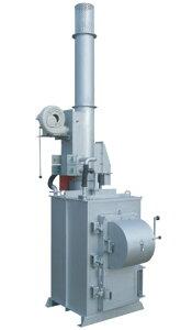 DAITO 廃プラ対応小型焼却炉 MDZ-400J ダイオキシン抑制型。全面開放扉の採用で大きなゴミも楽に投入。設置費込み。
