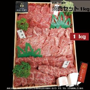 おおいた和牛 焼肉セット 1kg (冷凍)【高級 焼き肉セット メガ盛り 焼肉用 肉セット 黒毛和牛 焼肉ギフト 焼肉 国産 肉 お肉 詰め合わせ 食べ比べ 牛肉 セット モモ マル バラ ウデ 盛り合わ