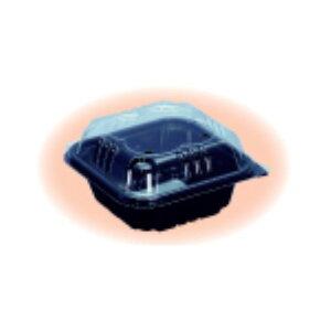 信和 ミニトマト用パック ミニパック クロバー150黒 103×103×58mm 4穴 嵌合 1ケース1500枚入り