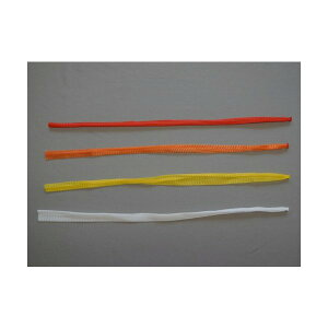 信和 棒ネット Sタイプ 折巾24cm 長さ55cm 赤/黄/オレンジ/白 にんにく・すだち用 1ケース5000本入
