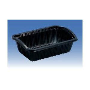信和 カラーイチゴケース イチゴ300 黒 166×116×55/47mm いちご200g用 1ケース2400枚入