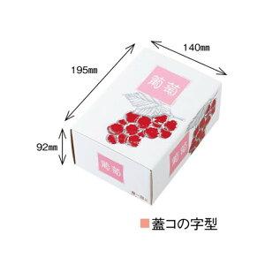 【農園名等必要】ぶどう用化粧箱 高級ぶどう 特A 1K 赤深 210×160×97mm 1ケース100セット入り