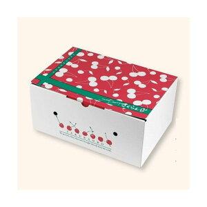 【屋号必須】ヤマニパッケージ さくらんぼ箱 L-2497 さくらんぼ2段BOX 180×269×122mm 1ケース50枚入り