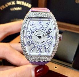 【新品】FRANCK MULLER フランクミュラー / ヴァンガード 純正ダイヤモンドベゼル V32 QZ D AC VL ステンレススチール レディース 腕時計 watch 【送料・代引手数料無料】