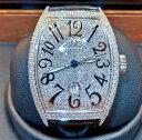 【新同品】FRANCK MULLER フランクミュラー カサブランカ ステンレススチール 8880 C DT アフターダイヤモンド メンズ 腕時計 watch【送料・代引手数料無料】