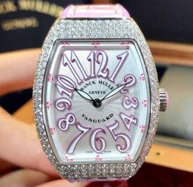 【新品】FRANCK MULLER フランクミュラー VANGUARD V32 QZ D AC RS  ステンレススチール レディース 腕時計 watch【送料・代引手数料無料】