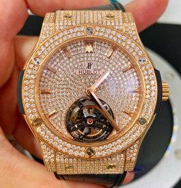 【新同品】HUBLOT ウブロ ビッグバン トゥールビヨン 505.OX.1180.LR 限定99本 18kキングゴールド メンズ 腕時計 watch 【送料・代引手数料無料】