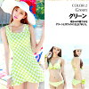 Wear a swimsuit bikini with three points of swimsuit Lady's sets, swimsuit one piece, hem asymmetry, checked pattern, wire; the back in reviewing it! /5SS/7S/9M/11L/13LL which there is the size that / which there is the size that a swimsuit figure cover