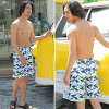It is advantageous by a pair swimsuit bulk buying! It is a separate mail beach underwear three points setoff shoulder by a present in a review after arrival at swimsuit men trunks + swimsuit レディースホユキカップル matching beach swimsuit /S/M/L/LL
