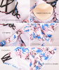 S/M/L which includes the size skirt frill surf underwear three points set pink blue floral design knitting that the latest couples lover boyfriend she suite pair swimsuit couple pair look Lady's men couple swimsuit pair swimsuit is big for 2,018 years