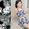 Size skirt frill surf underwear four points set floral design S/M/L/LL where the latest couples lover boyfriend she matching pair swimsuit couple pair look Lady's men couple swimsuit pair swimsuit is big for 2,018 years