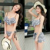The sea pool resort adult frill ethnic leaf that the size figure cover swimsuit short pants holder neck hips thigh mom swimsuit fashion chubby see-through camisole which 2018 new work four points set swimsuit S/M/L/LL has a big in 30s in 40s in twenties