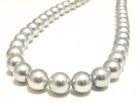 アコヤ真珠ネックレス(8.0〜7.5ミリ/グレー系)