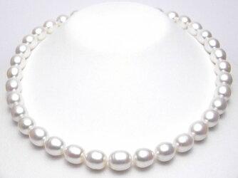 ゴージャスな大珠サイズ!淡水真珠ネックレス(10〜9ミリ)