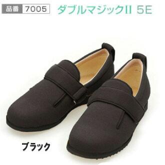 """德武产业""""ayumi鞋""""双魔术2 5E(7005)黑色两脚"""
