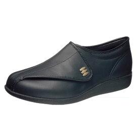 <展示品の為、1点限り>アサヒシューズ 『快歩主義』 M013 男性用 ブラックスムース 26.5cm M013 KS21711-AA【高齢者用靴・ケアシューズ・軽量・介護用シューズ・リハビリシューズ・シルバー・シニア・らくらく】