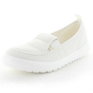 MS大人の上履き03 ホワイト  ムーンスター(moonSTAR)【高齢者用靴・ケアシューズ・介護室外用】【軽量・介護用シューズ・リハビリシューズ・シルバー・シニア・お年寄り】