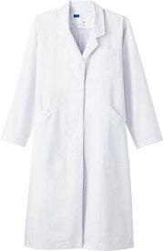 レディースシングルコート WH2212 ホワイト ホワイセル(WHISEL)【女性用コート】【ドクターコート・女性白衣・医療用コート・メンズコート・看護用コート・医療コート・院内用コート】