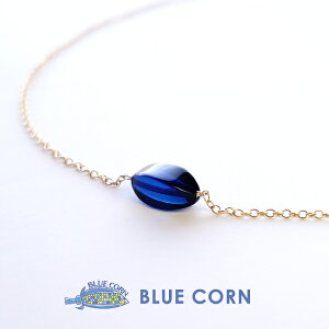 ネックレス 琥珀 アンバー パワーストーン ブルーサファイアアンバー 14KGF ゴールド 天然石 14KGF ジュエリー ネックレス プレゼント ギフト かわいい 可愛い レディース 女性 ネイビー ブルー