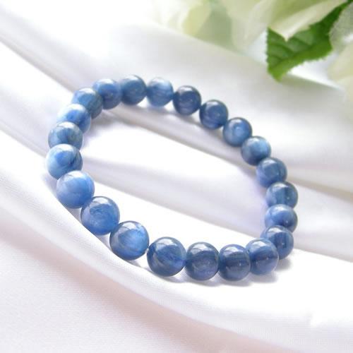 パワーストーン ブレスレット メンズ レディース 藍色の結晶 カヤナイト AAAブレスレット(高品質)03 パワ−スト−ン 天然石 パワーストーンブレスレット ネコポス便 送料無料