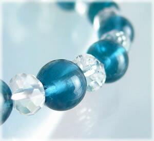 パワーストーン ブレスレット メンズ レディース 美しい青緑色の結晶ブルーフローライトブレスレット02 天然石 パワーストーン 水晶 癒し 浄化 幸運 開運 金運 恋愛運 魔除け 対人運 天然石