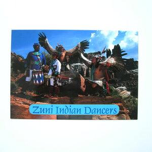 ポストカード 3枚セット ズニ族 インディアンダンス アメリカ 手紙 ネイティブアメリカ おしゃれ セット 雑貨 文具