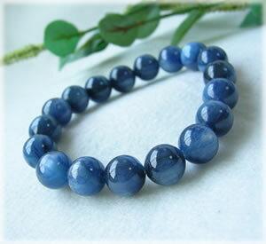パワーストーン ブレスレット メンズ レディース 高品質(3A)藍色の結晶 カヤナイト カイヤナイト ブレスレット 01 パワ−スト−ン 天然石 水晶 癒し 浄化 幸運 開運 金運 恋愛運 魔除け 対