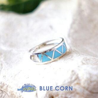 インディアンジュエリーアクセサリーリングズニ group turquoise silver 925 inlay work Lady's lucky charm good luck good luck talisman against evil native American native accessories Indian jewelry accessories are pretty; is pretty