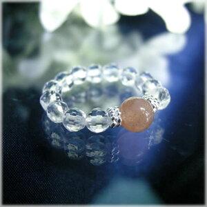 パワーストーン パワーストーンリングオレンジムーンストーン 天然石 パワーストーン 水晶メンズ レディース 癒し 浄化 幸運 天然石