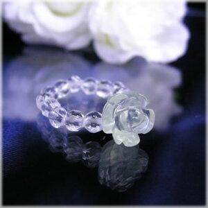 パワーストーン 薔薇のパワーストーンリングプレナイト パワ−スト−ン 天然石 水晶メンズ レディース 癒し 浄化 幸運 天然石