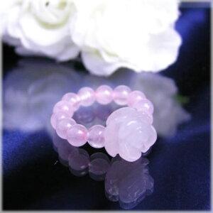 パワーストーン 薔薇のパワーストーンリングローズクォーツ 天然石 パワーストーン 水晶メンズ レディース 癒し 浄化 幸運 天然石