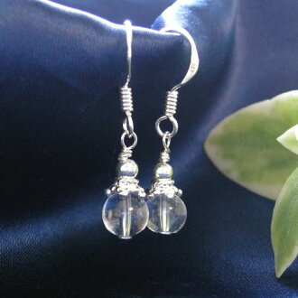 Power stone 6 millimeters ball | Himalayas crystal | Pierced earrings non hall pierced earrings nature stone power stone | パワ-スト-ン nature stone