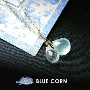 パワーストーン 14(金)ゴールドフィールド使用!シーブルーカルセドニ & 水晶 ペンダントトップ パワ−スト−ン 天然石 水晶メンズ レディース 癒し 浄化 幸運 天然石
