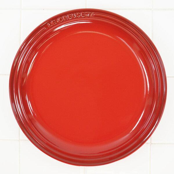 ル・クルーゼ ラウンド・プレート・LC 23cm チェリーレッド 910140-23-06 (日本正規販売品)