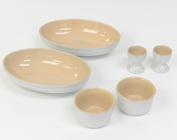 ル・クルーゼ ペア・テーブルウェア・セット(ホワイトラスター) 910409-00-296 (日本正規販売品)