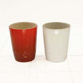 ル・クルーゼ ペア・ショート・タンブラー チェリーレッド+ホワイトラスター (日本正規販売品)